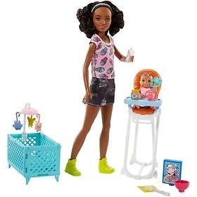Barbie Babysitters Inc. Doll and Playset FHY99