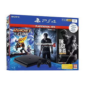 Sony PlayStation 4 (PS4) Slim 1TB (inkl. Ratchet & Clank + Uncharted 4 + TLOU)