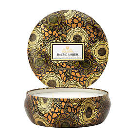 Voluspa 3 Wick Candle In Decorative Tin Baltic Amber