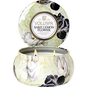 Voluspa Maison Metallo 2 Wick Candle Sake Lemon Flower