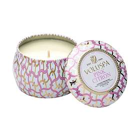 Voluspa Petite Decorative Tin Candle Pink Citron