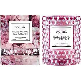 Voluspa Icon Cloche Cover Candle Rose Petal Ice Cream