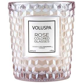 Voluspa Classic Textured Glass Candle Rose Colored Glasses