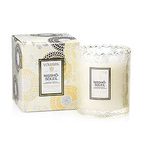 Voluspa Scalloped Edge Embossed Glass Candle Nissho Soleil