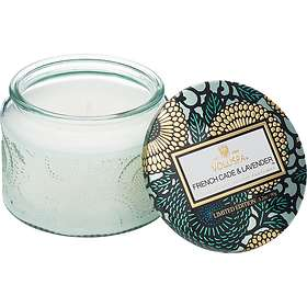 Voluspa Petite Embossed Glass Jar Candle French Cade Lavender