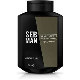 Sebastian Professional Seb Man The Multi Tasker Hair Beard & Body Wash 250ml