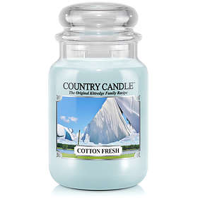 Country Candle Large Jar 2 Wick Scented Candle Cotton Fresh