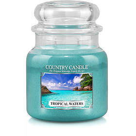 Country Candle Medium Jar 2 Wick Scented Candle Tropical Waters