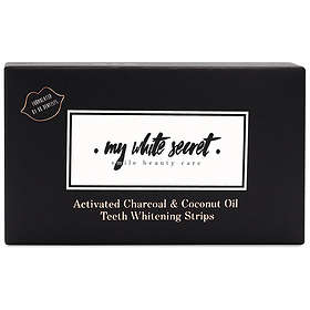 My White Secret Activated Charcoal & Coconut Oil Teeth Whitening Strips