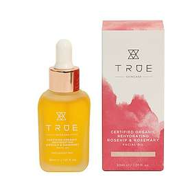 True Organic Rehydrating Rosehip & Rosemary Facial Oil 30ml