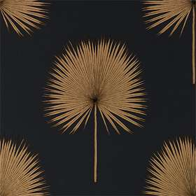 Sanderson Fan Palm Charcoal Gold (216639)