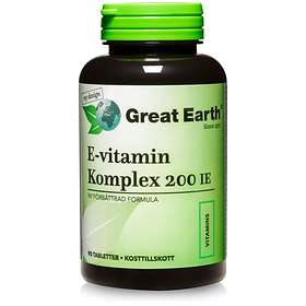Great Earth Vitamin E-200 90 Kapslar