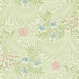 Morris & Co. Archive II Larkspur Green Coral (212558)