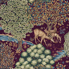 Morris & Co. The Brook Tapestry Red (224498)