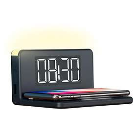 Ksix LED Alarm Clock with Wireless Charger and Night Lamp