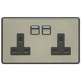 LightwaveRF 2 Gang Smart Socket L42