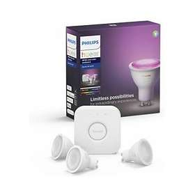 Philips Hue White and Color Ambiance BT Starter Kit GU10 5,7W 3-pack (Kan dimmes