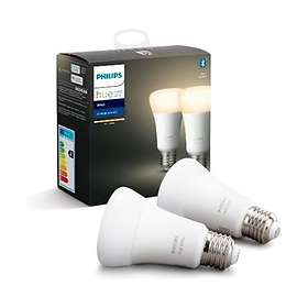 Philips Hue White BT 806lm 2700K E27 9W 2-pack (Dimmable)