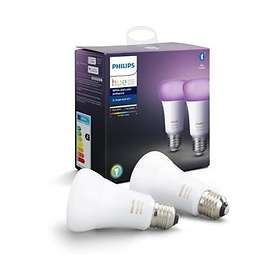 Philips Hue White and Color Ambiance BT 806lm 6500K E27 9W 2-pack (Dimmable)