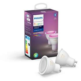 Philips Hue White and Color Ambiance BT 350lm 6500K GU10 5,7W 2-pack (Kan dimmes