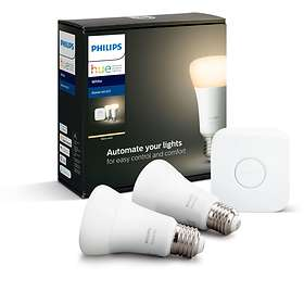 Philips Hue White BT Starter Kit 806lm 2700K E27 9W 2-pack (Dimbar)