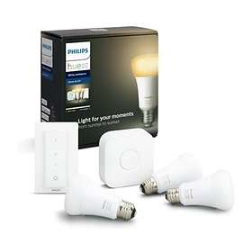 Philips Hue White Ambiance BT Starter Kit 806lm 6500K E27 9W 3-pack (Kan dimmes)