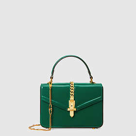 Gucci Sylvie 1969 Patent Leather Mini Top Handle Bag (589479)
