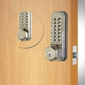 Codelocks CL290 Mortise Latch Back to Back with Key Override