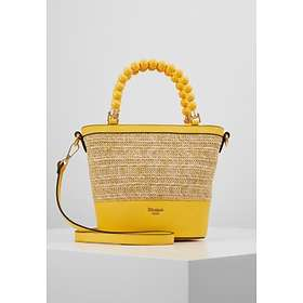 Dune London Dotty Bead Handle Woven Handbag