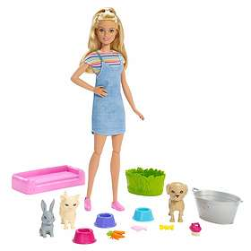 Barbie Play 'n' Wash Pets Doll and Playset FXH11