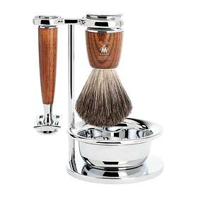 Mühle Rytmo Steamed Ash Safety Razor - Pure Badger (4-delar)