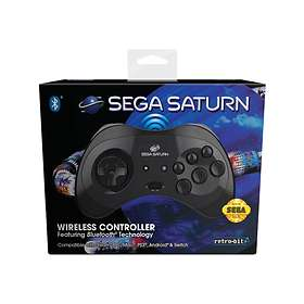 Retro-Bit Sega Saturn 8-Button Arcade Pad BT (PC/Mac/PS3/Android/Switch)