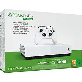 Microsoft Xbox One S 1TB - All-Digital Edition (incl. SoT + Minecraft + Fortnite