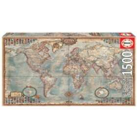Educa Pussel Political Map Of The World 1500 Bitar