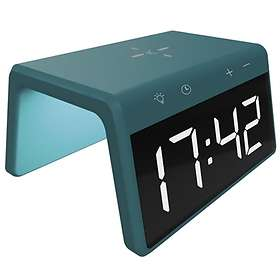 Ksix Alarm Clock 2 with Wireless Fast Charge