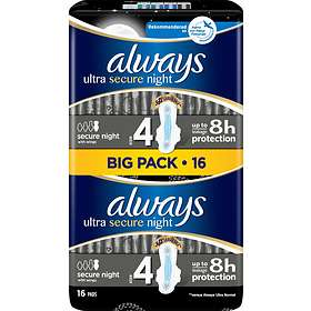 Always Ultra Secure Night Wings (16-pack)