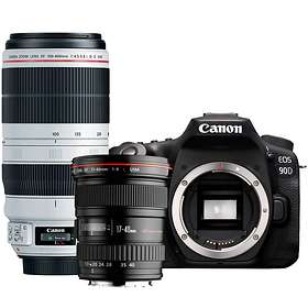 Canon EOS 90D + 17-40/4 L USM + 100-400/4,5-5,6 IS II USM