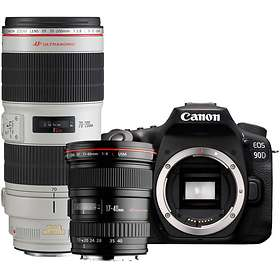 Canon EOS 90D + 17-40/4 L USM + 70-200/2,8 L IS III USM