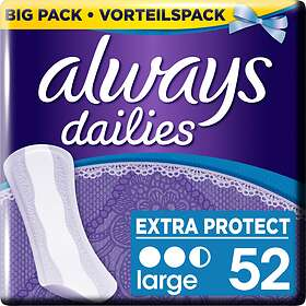 Always Dailies Extra Protect Large (52-pack)