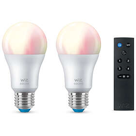 WiZ Smart LED Colors A60 806lm E27 8W 2-pack + WiZmote