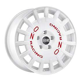 OZ Rally Race White + Red Lettering 8x18 5/100 ET35 CB68.1