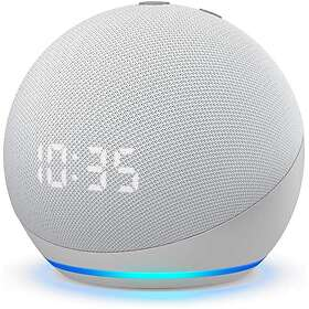 Amazon Echo Dot (4th Generation) with clock