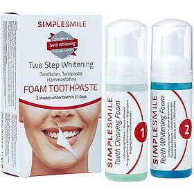 Simple Smile Two Steps Whitening Foam Tannkrem