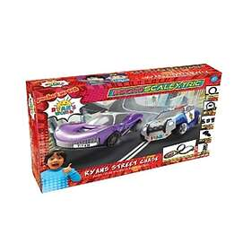 Scalextric Micro Ryans World Street Chase Set Battery Powered (G1160M)