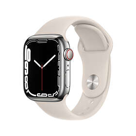 Apple Watch Series 7 4G 41mm Stainless Steel with Sport Band