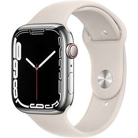 Apple Watch Series 7 4G 45mm Stainless Steel with Sport Band