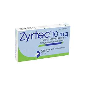 UCB Nordic Zyrtec 10mg 30 Tablets