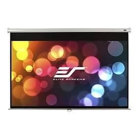 "Elite Screens Manual Black Top-30 White Case MaxWhite 16:9 84"" (186x105)"