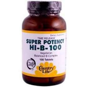 Country Life Super Potency Hi-B-100 100 Tabletter