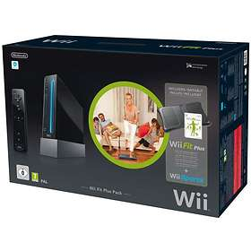 Nintendo Wii Black (incl. Wii Fit Plus Pack) - Limited Edition